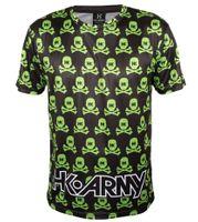 T-Shirt Dry Fit HK Army Mens Skulls schwarz / grün