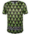 T-Shirt Dry Fit HK Army Mens Skulls black / green 001