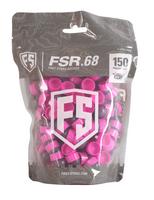 Tiberius First Strike .68 Cal 150 Paintballs, smoke / pink