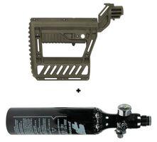 HP System 200 Bar Protoyz mit Regulator und 0,21l Alu Flasche inkl. PWR Schulterstütze Earth braun
