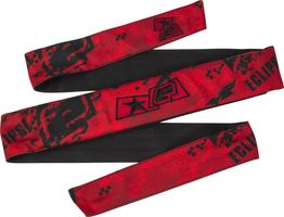 Eclipse Headband Fracture Fire red