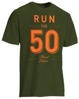 T-Shirt Planet Mens Run 50 oliv