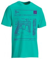 T-Shirt Planet Mens CS1 teal