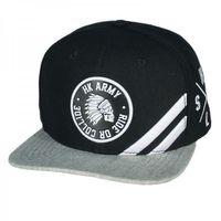 Baseballcap HK Army Collide black / grey