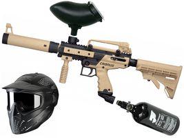 Tippmann Cronus Tactical .68 Cal tan / black, 0,8l HP, JT Premise Headshield single, Munbox