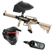 Tippmann Cronus Tactical .68 Cal tan / black, 0,8l HP, V-Force Armor thermal, JT Evolution Classic Loader