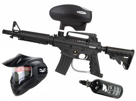 Tippmann Bravo One Elite .68 Cal black, 0,8l HP, Valken MI-3 thermal, Valken V-Max+