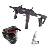 Tippmann TCR MagFed .68 Cal black, 20x 12g Co2 capsules, V-Force Armor thermal
