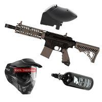 Tippmann TMC Magfed .68 Cal schwarz / braun, 0,8l HP, V-Force Armor thermal, JT Revolution Classic Loader