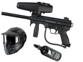 Tippmann A-5 Basic .68 Cal, 0,8l HP, JT Premise Headshield single