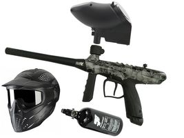 Tippmann Gryphon FX Basic .68 Cal Skull grey, 0,8l HP, JT Premise Headshield single, JT Revolution Classic Loader