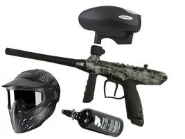 Tippmann Gryphon FX Basic .68 Cal Skull grey, 0,8l HP, JT Premise Headshield single, Valken V-Max+