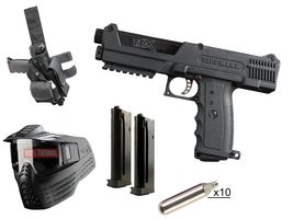 Tippmann TiPX Deluxe Pistol Kit .68 Cal black, 10x 12g CO2 capsules, V-Force Armor thermal