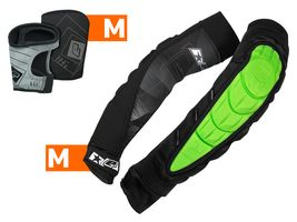 Planet Eclipse Combo Elbow Overloads Pads HD Core green incl. Snap Gloves black M / M