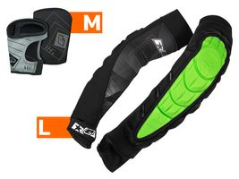 Planet Eclipse Combo Elbow Overloads Pads HD Core green incl. Snap Gloves black L / M