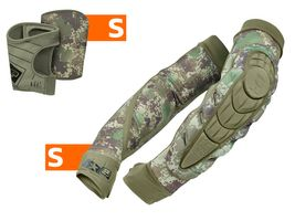 Planet Eclipse Combo Elbow Overloads Pads HD Core incl. Snap Gloves HDE camo S / S