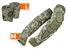 Planet Eclipse Combo Elbow Overloads Pads HD Core incl. Snap Gloves HDE camo M / L