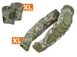 Planet Eclipse Combo Ellbogen / Unterarmschoner HD Core inkl. Snap Gloves HDE camo XL / XL