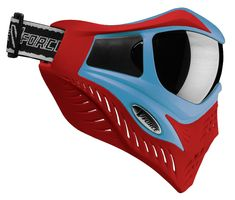 Paintball Goggle V-Force Grill SC Blue on Red