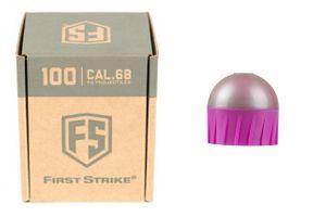 Tiberius First Strike .68 Cal 100 Paintballs, silber / pink