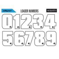 Aufkleber Dye Loader Number Stickers