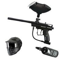 Spyder Aggressor .68 Cal schwarz, 0,8l HP, JT Premise Headshield single, Munbox