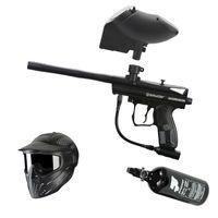 Spyder Aggressor .68 Cal black, 0,8l HP, JT Premise Headshield single, JT Evolution Classic Loader