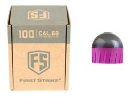 Tiberius First Strike .68 Cal 100 Paintballs, anthrazit / pink
