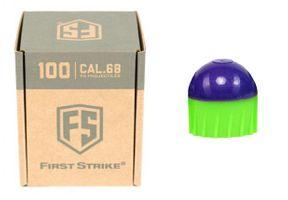 Tiberius First Strike .68 Cal 100 Paintballs, lila/ grün