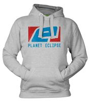 Kapuzenpulli Planet Eclipse Stamp, grau