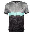 T-Shirt Dri Fit HK Army Mens black / teal 001